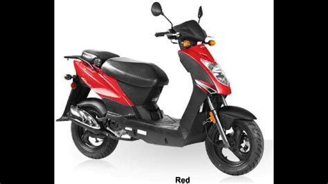 KYMCO AGILITY 50 4T RED 49cc Scooter - YouTube