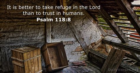 Psalm 118:8 - Bible verse of the day - DailyVerses