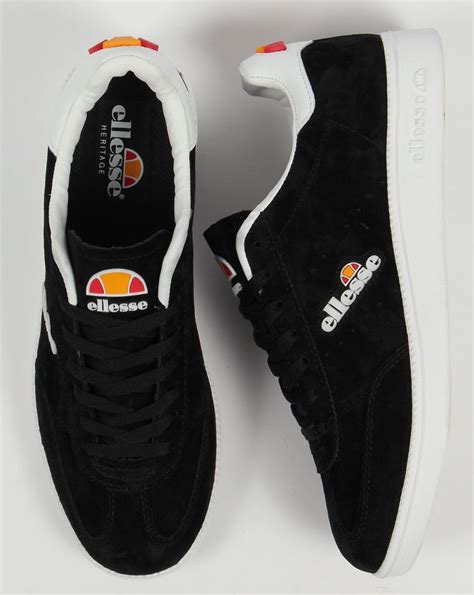 Ellesse Napoli Trainers Black/White,suede,tennis,low,shoes