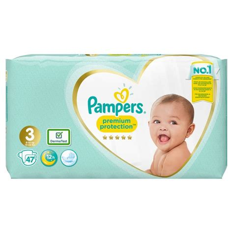 Morrisons: Pampers Premium Protection Size 3 Nappies 47