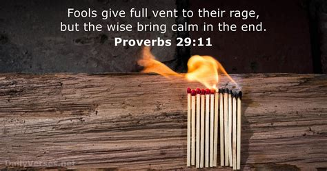 July 30, 2018 - Bible verse of the day - Proverbs 29:11