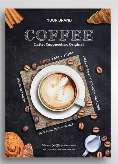 Coffee Shop Flyer by uicreativenet on   Food poster design