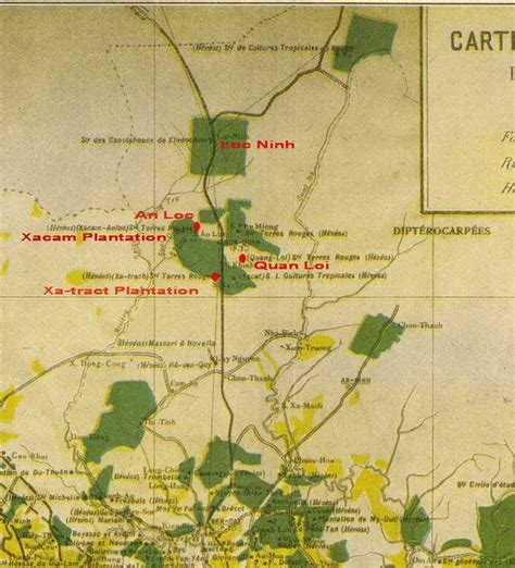 Map Of French Rubber Plantations