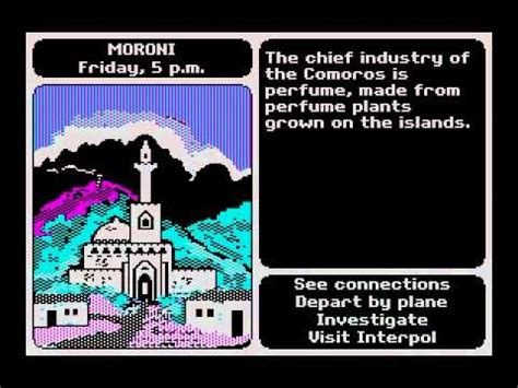 DOS Game: Where in the World is Carmen Sandiego (1985