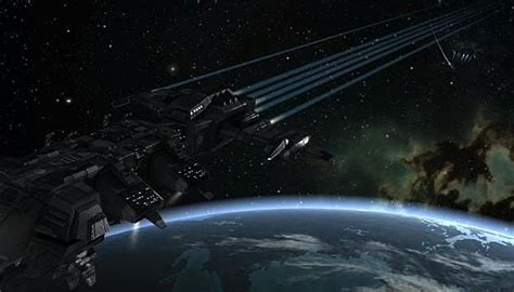 EVE Players Test Orbital Bombardment - The Only Way To Be