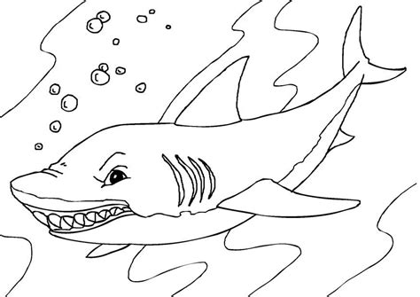 Coloriage requin - img 27232