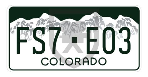 Colorado License Plate | The Specialists LTD | The