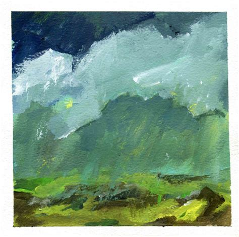 art every day number 126 / painting / grey storm - JANET