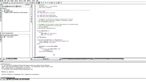 VHDL with Xilinx - LED Blink Tutorial - YouTube
