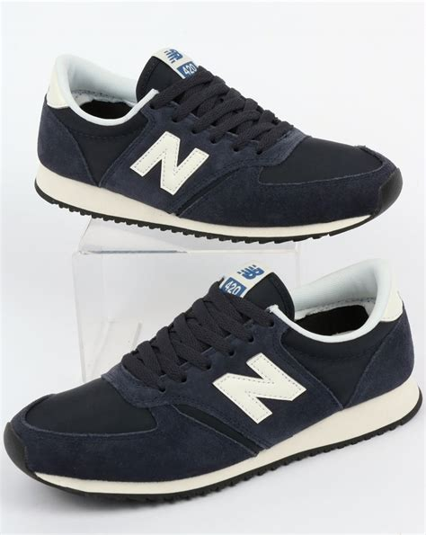 New Balance 420 Trainers Navy/Off White,blue,shoes,running,70s