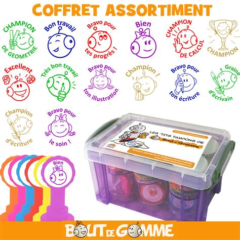 Tampons Enseignants | Coffret Assortiment 6 Tampons- Bout
