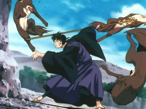Kagome Kidnapped by Koga, the Wolf Demon! - YouTube