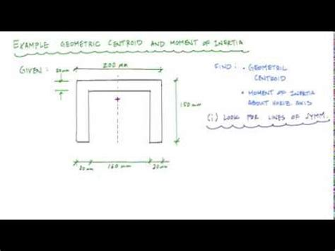 Geometric properties of a channel section (part 1/2