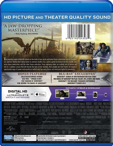 Warcraft Blu-Ray/DVD Front and Back Covers - Blizzplanet