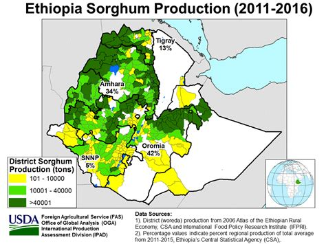 East Africa - Crop Production Maps