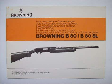 catalogue armurerie arme belge fusil chasse FN Herstal