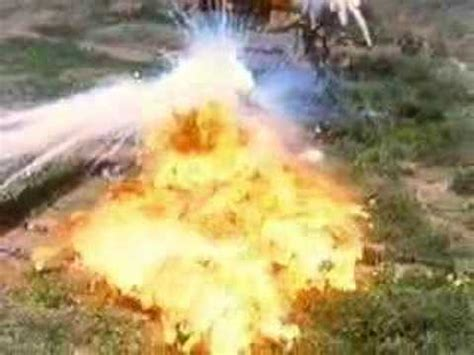 Carpet napalm bombing (Atomic bomb against a fly) - YouTube